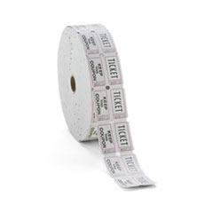 Consecutively Numbered Double Ticket Roll, White, 2000