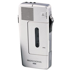 Pocket Memo 488 Slide Switch Mini Cassette Dictation Recorder
