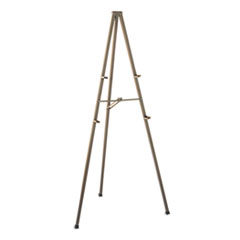 "Tripod Display Easel, 72"" High, Steel, Bronze"