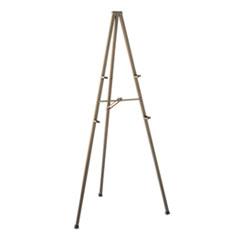"Quartet® Tripod Display Easel, 72"" High, Steel, Bronze"