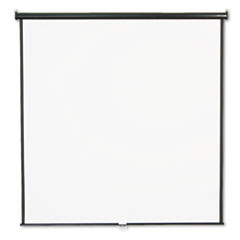 Wall or Ceiling Projection Screen, 84 x 84, White Matte, Black Matte Casing