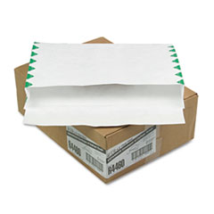 Survivor® Open Side Expansion Mailers, DuPont Tyvek, #15, Commercial Flap, Self-Adhesive Closure, 10 x 15, White, 100/Carton