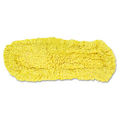 "Rubbermaid® Commercial Trapper Commercial Dust Mop, Looped-end Launderable, 5"" x 18"", Yellow"