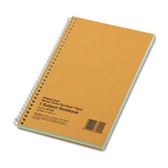 National® Single-Subject Wirebound Notebooks, 1 Subject, Narrow Rule, Brown Cover, 7.75 x 5, 80 Sheets
