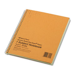 National® Single-Subject Wirebound Notebooks, 1 Subject, Narrow Rule, Brown Cover, 8.25 x 6.88, 80 Sheets
