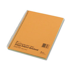 National® Single-Subject Wirebound Notebooks, 1 Subject, Narrow Rule, Brown Cover, 10 x 8, 80 Sheets