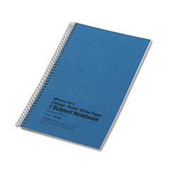 National® Single-Subject Wirebound Notebooks, 1 Subject, Medium/College Rule, Blue Cover, 9.5 x 6, 80 Sheets