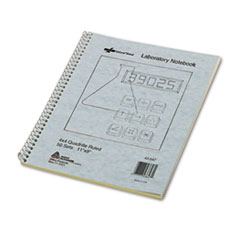 National® Duplicate Laboratory Notebooks, 4 sq/in Quadrille Rule, 11 x 9, Assorted Sheet Colors, 100 Sheets