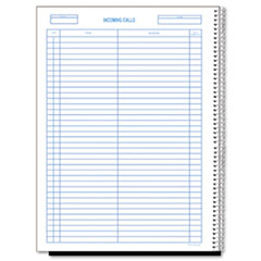 Rediform® Wirebound Call Register, 8 1/2 x 11, 3, 700 Forms/Book