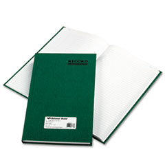 National® Emerald Series Account Book, Green Cover, 300 Pages, 12 1/4 x 7 1/4