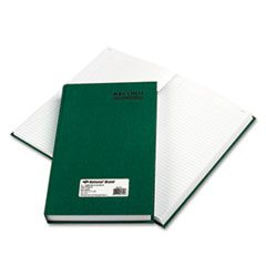 National® Emerald Series Account Book, Green Cover, 500 Pages, 12 1/4 x 7 1/4