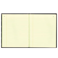 National® Texthide Record Book, Black/Burgundy, 150 Green Pages, 10 3/8 x 8 3/8