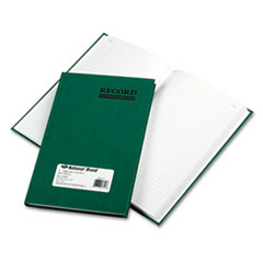 National® Emerald Series Account Book, Green Cover, 200 Pages, 9 5/8 x 6 1/4