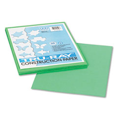 Pacon® Tru-Ray Construction Paper, 76 lbs., 9 x 12, Festive Green, 50 Sheets/Pack