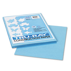 Pacon® Tru-Ray Construction Paper, 76 lbs., 9 x 12, Sky Blue, 50 Sheets/Pack