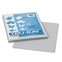 Pacon® Tru-Ray Construction Paper, 76 lbs., 9 x 12, Gray, 50 Sheets/Pack