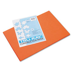 Pacon® Tru-Ray Construction Paper, 76 lbs., 12 x 18, Orange, 50 Sheets/Pack