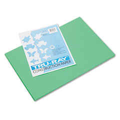 Pacon® Tru-Ray Construction Paper, 76 lbs., 12 x 18, Festive Green, 50 Sheets/Pack