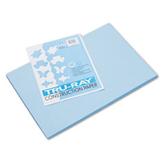 Pacon® Tru-Ray Construction Paper, 76 lbs., 12 x 18, Sky Blue, 50 Sheets/Pack