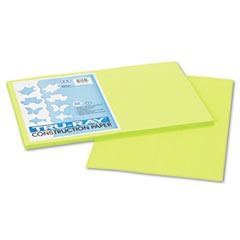 Pacon® Tru-Ray Construction Paper, 76 lbs., 12 x 18, Brilliant Lime, 50 Sheets/Pack
