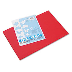 Pacon® Tru-Ray Construction Paper, 76 lbs., 12 x 18, Festive Red, 50 Sheets/Pack