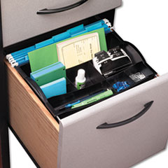Charmant Rubbermaid® Hanging Desk Drawer Organizer, Plastic, Black