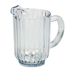 Rubbermaid® Commercial Bouncer Plastic Pitcher, 60oz, Clear