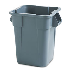 Rubbermaid® Commercial Brute Container, Square, Polyethylene, 40 gal, Gray