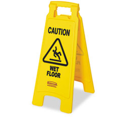 "Rubbermaid® Commercial ""Caution Wet Floor"" Floor Sign"