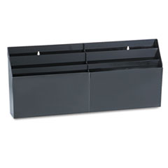 """Rubbermaid® Optimizers Six-Pocket Organizer, 26 21/32"""" x 3 4/5"""" x 11 9/16"""", Black"""