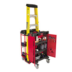 Rubbermaid® Commercial Ladder Cart with Cabinet Thumbnail