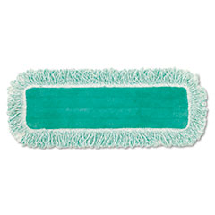 "Rubbermaid® Commercial Dust Pad with Fringe, Microfiber, 18"" Long, Green, 6/Carton"