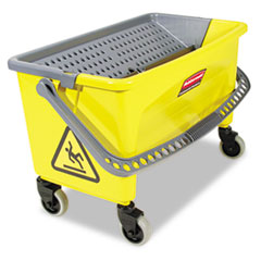 Rubbermaid® Commercial HYGEN™ HYGEN Press Wring Bucket for Microfiber Flat Mops, Yellow