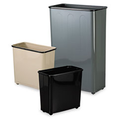 Rubbermaid® Commercial Fire-Safe Steel Rectangular Wastebaskets