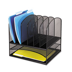 Safco® Onyx™ Mesh Desk Organizer With Two Horizontal/Six Upright Sections