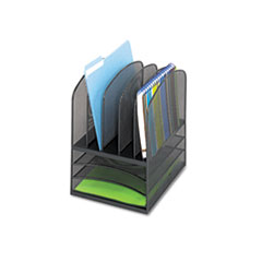 Safco® Onyx™ Mesh Desk Organizer with Five Vertical/Three Horizontal Sections