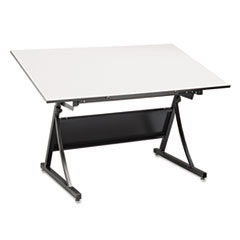 Safco® PlanMaster Height-Adjustable Drafting Table Base Thumbnail