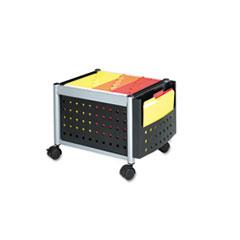 Safco® Mini-Scoot Mobile File, 19w x 14-3/4d x 14h, Black/Silver