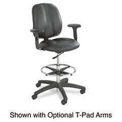"Safco® Apprentice II Extended-Height Chair, 32"" Seat Height, Supports up to 250 lbs., Black Seat/Black Back, Black Base"