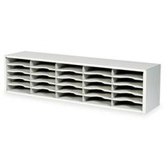 Safco® E-Z Sort Steel Mail Sorter Module, Light Gray Steel