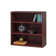 Safco® Après Open Bookcase, Three-Shelf, 29-3/4w x 11-3/4d x 29-3/4h, Mahogany