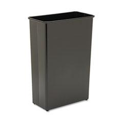 Safco® Rectangular Wastebasket, Steel, 22 gal, Black