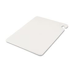 San Jamar® Cut-N-Carry Color Cutting Boards, Plastic, 20w x 15d x 1/2h, White