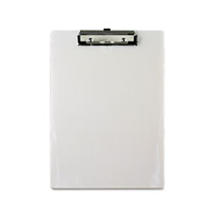 "Plastic Clipboard, 1/2"" Capacity, 8 1/2 x 12 Sheets, Pearl"