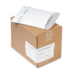 Sealed Air Jiffy TuffGard Self-Seal Cushioned Mailer, #0, Barrier Bubble Lining, Self-Adhesive Closure, 6 x 10, White, 25/Carton