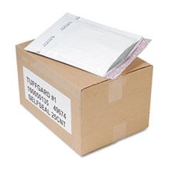 Sealed Air Jiffy TuffGard Self-Seal Cushioned Mailer, #1, Barrier Bubble Lining, Self-Adhesive Closure, 7.25 x 12, White, 25/Carton