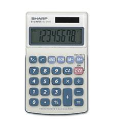 Sharp® EL240SB Handheld Business Calculator, 8-Digit LCD