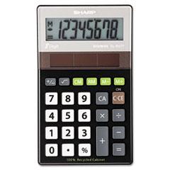 Sharp® EL-R277BBK Recycled Series Handheld Calculator, 8-Digit LCD