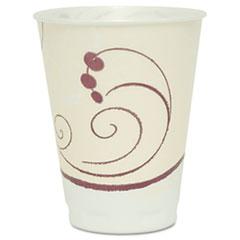 Dart® Symphony Design Trophy Foam Hot/Cold Drink Cups, 12 oz, Beige, 100/Pack