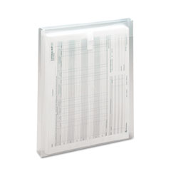 Smead® Top-Load Envelope, Fold Flap Closure, 9.75 x 11.63, Clear, 5/Pack